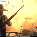 Marshal Johnson brandishes the Explosive Rifle