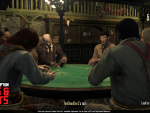 Players examine their hands in Liar's Dice