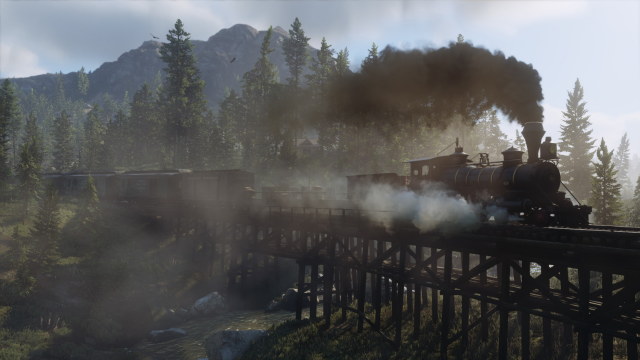 Train on the trestle