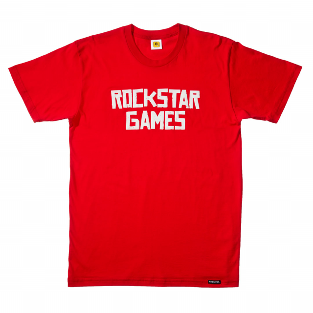 Rockstar Games T-Shirt - White on Red
