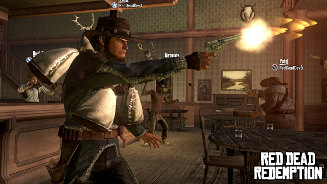 Saloon shootout with characters from RDRevolver