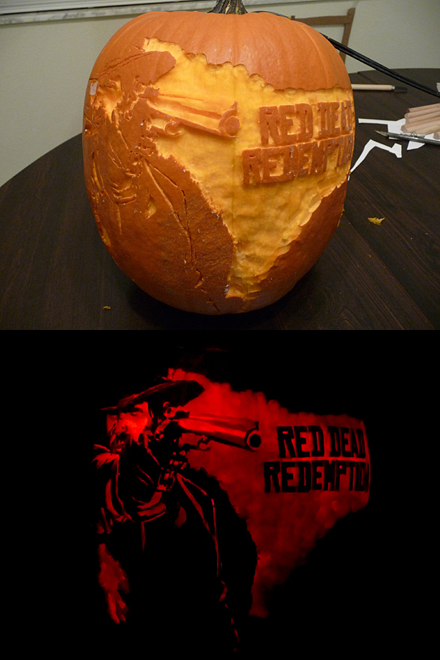 Red Dead Pumpkin by ceemdee