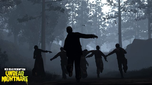 A mob of undead in Tall Trees