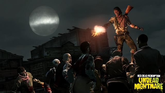 Marston blasts undead as the Zombie Hunter