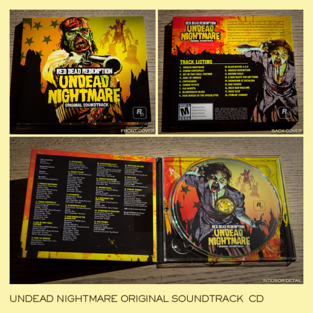 Undead Nightmare Soundtrack Cd Red Dead Redemption