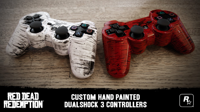 Hand Painted RDR PS3 DualShock Controllers