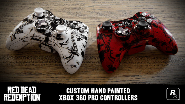 Xbox 360 Controller Drawing Hand Painted RDR Xbox ...